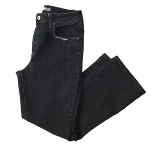 Chico's Black Charcoal 6 short Slight Boot Jeans